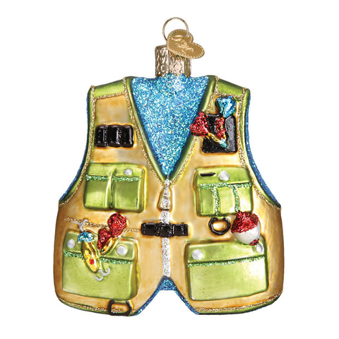 Fishing Vest Ornament for Christmas Tree