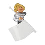 Flag Twirler Ornament - Female, Blond Hair for Christmas Tree