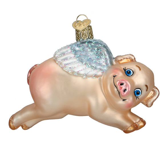 Flying Pig Ornament for Christmas Tree