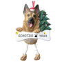 German Shepherd Dog Ornament for Christmas Tree