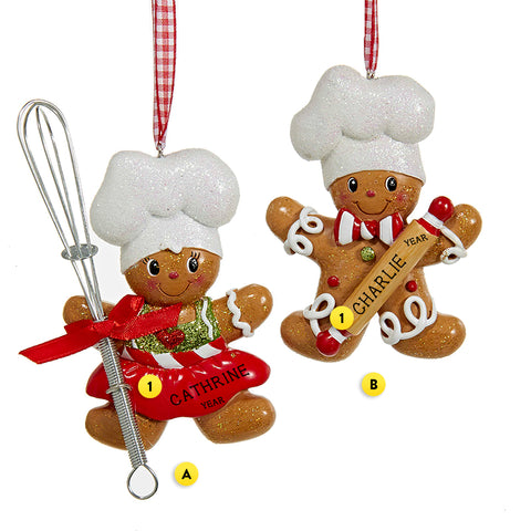 Gingerbread Chef Ornament