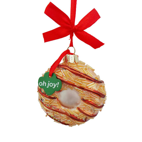Girl Scout Carmel Delight Cookie Glass Ornament for Christmas Tree
