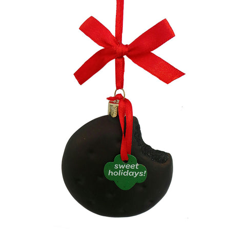 Girl Scout Mint Cookie Glass Ornament for Christmas Tree