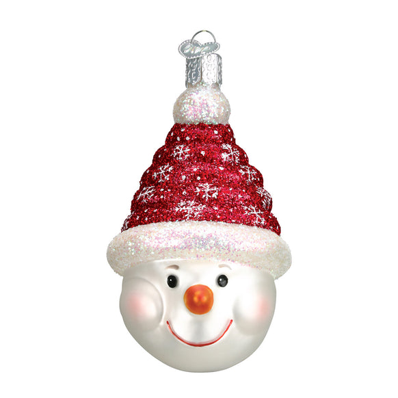 Glistening Candy Coil Snowman Ornament for Christmas Tree