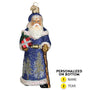 Glistening Midnight Santa Ornament