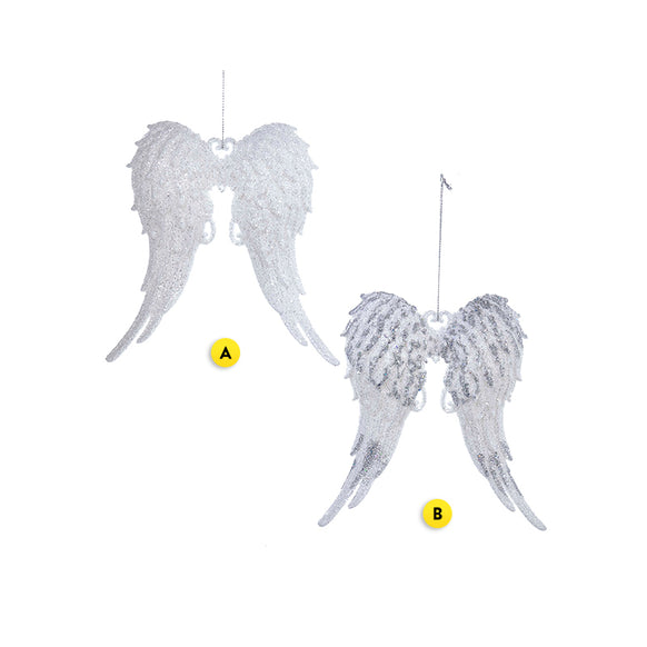 Glitter Angel Wings Ornament