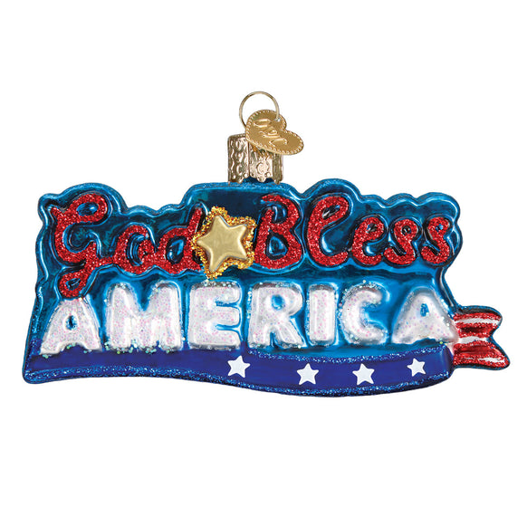 God Bless America Ornament for Christmas Tree
