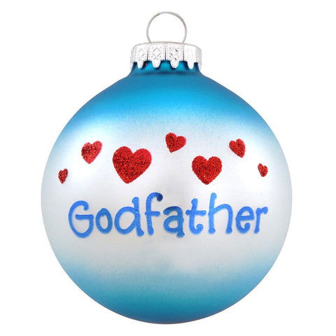 Godfather Glass Bulb Christmas Ornament
