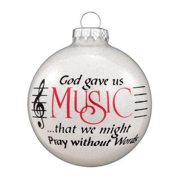 """God Gave Us Music..."" Ornament for Christmas Tree"