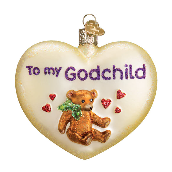 Godchild Heart Ornament for Christmas Tree