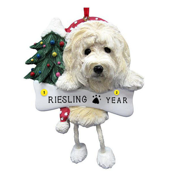 Goldendoodle Dog Ornament for Christmas Tree