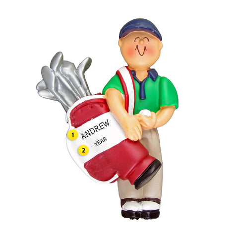 Golf Ornament - Male for Christmas Tree