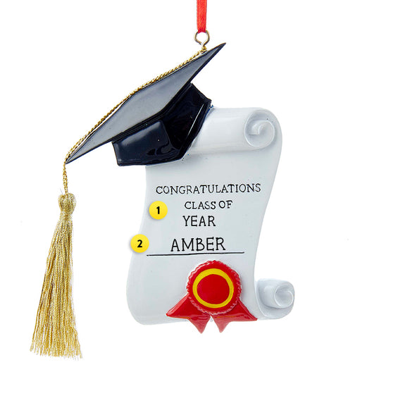 Graduation Cap and Diploma Ornament