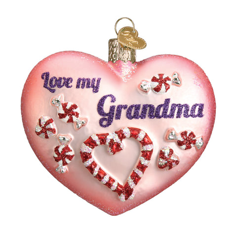 Grandma Heart Ornament for Christmas Tree