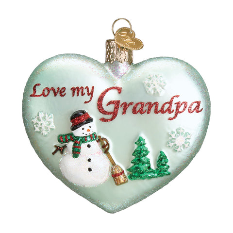 Grandpa Heart Ornament for Christmas Tree