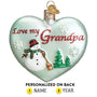 Grandpa Heart Ornament