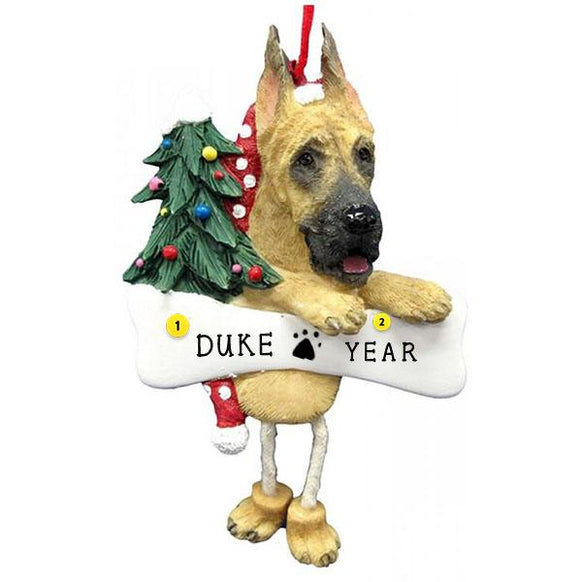 Great Dane Dog Ornament for Christmas Tree