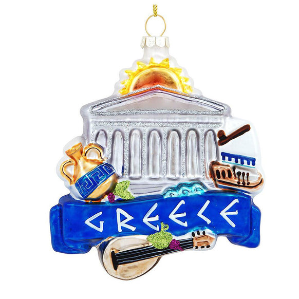 Greece Landmarks Ornament for Christmas Tree