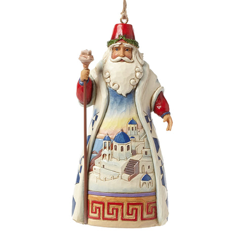 Greece Santa Ornament