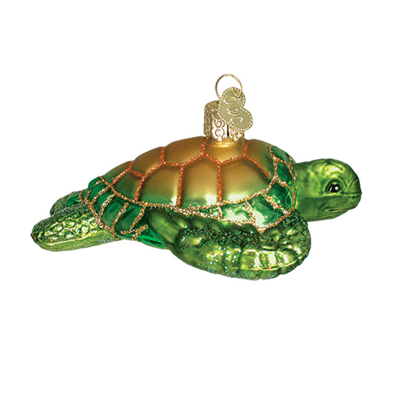 Green Sea Turtle Ornament for Christmas Tree