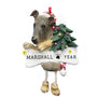 Greyhound Dog Ornament for Christmas Tree