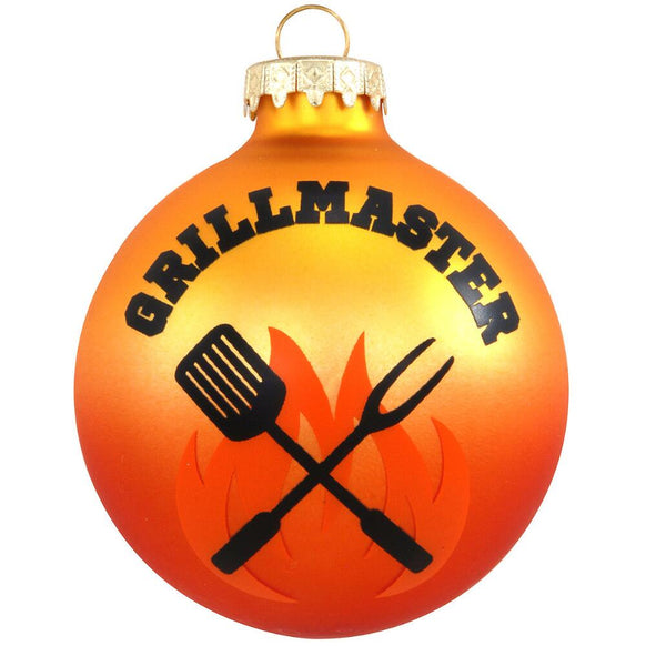 Grill Master Glass Bulb Christmas Ornament