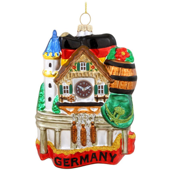 3D Germany Glass Christmas Ornament