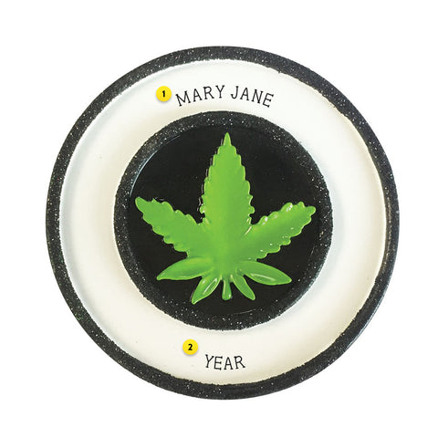 Cannabis Pot Leaf ornament