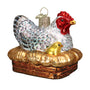 Hen on Nest Ornament for Christmas Tree