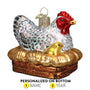 Hen on Nest Ornament