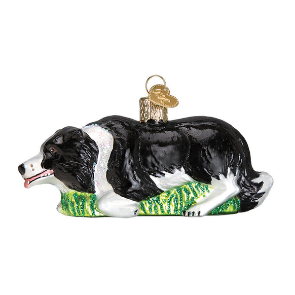 Herding Border Collie Ornament for Christmas Tree