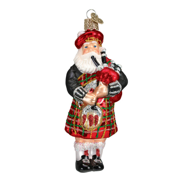 Highland Santa Ornament for Christmas Tree