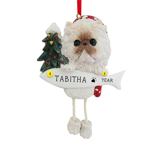Himalayan Cat Ornament Personalized for Christmas Tree