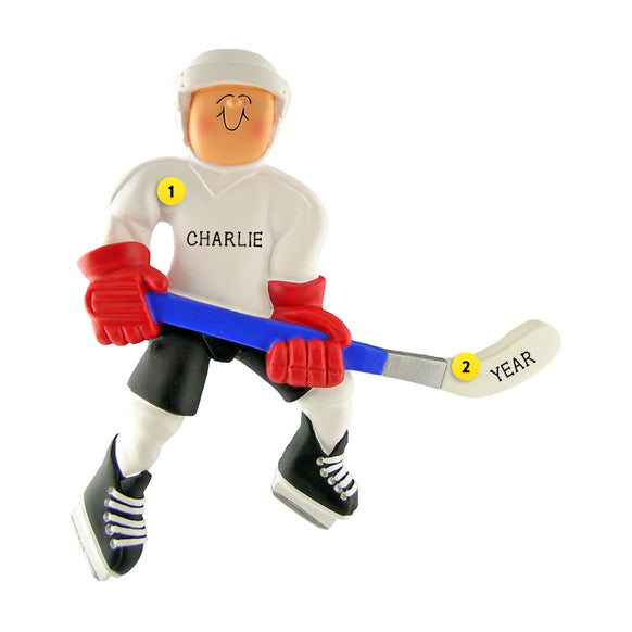 Hockey Ornament - Male for Christmas Tree
