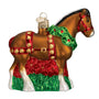 Holiday Clydesdale Ornament for Christmas Tree