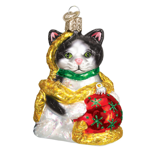 Holiday Kitten Ornament for Christmas Tree