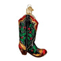 Holly Berry Cowboy Boot Ornament for Christmas Tree