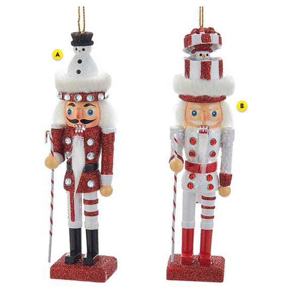 Nutcracker Hollywood Snowman Ornament 2 Assorted please choose one