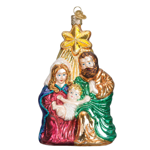 Glass Holy Family Ornament for Christmas Tree