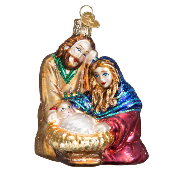 Colorful Holy Family Ornament for Christmas Tree