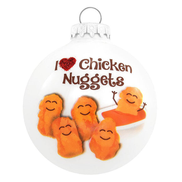 I Love Chicken Nuggets Ornament for Christmas Tree