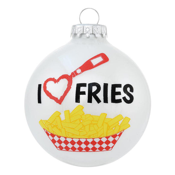 I Love Fries Ornament for Christmas Tree