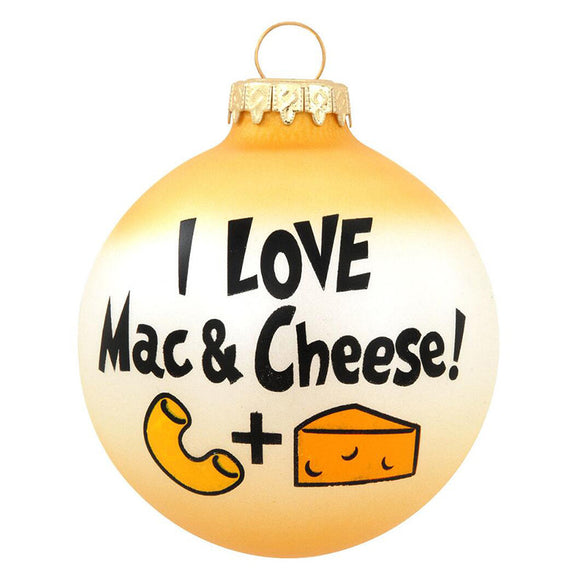 I Love Mac & Cheese Ornament for Christmas Tree