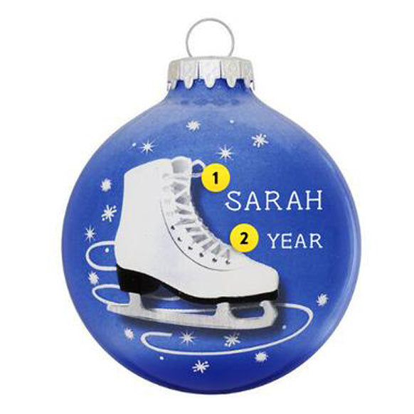 Ice Skate Ornament for Christmas Tree