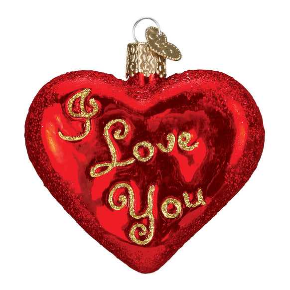 I Love You Heart Ornament for Christmas Tree