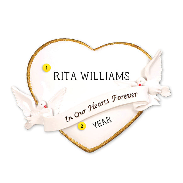 In Our Hearts Forever Ornament for Christmas Tree