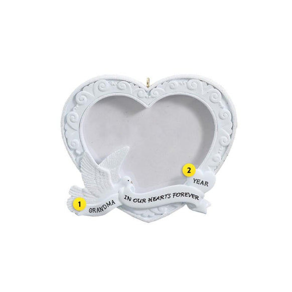 In Our Hearts Forever Photo Frame Ornament for Christmas Tree