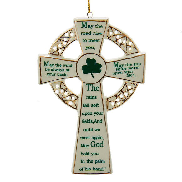 Irish Blessing Cross Ornament for Christmas Tree