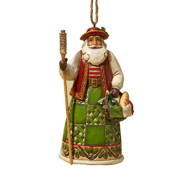 Italian Santa Ornament for Christmas Tree