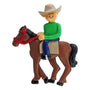Horseback Riding Ornament - Male